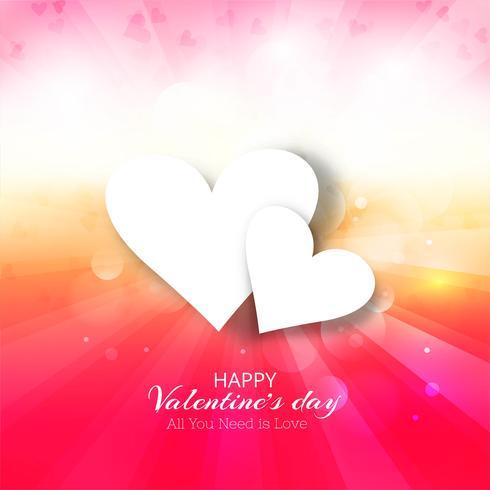Felice giorno di San Valentino sfondo colorato illustrazione vettore