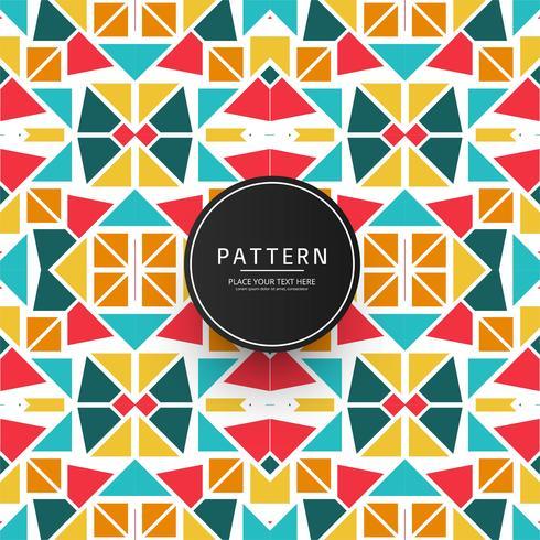 Design moderno motivo geometrico colorato vettore