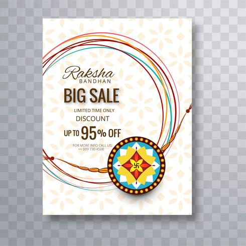 Rakhi Sale Poster Template sfondo per il Festival di Raksha Ban vettore