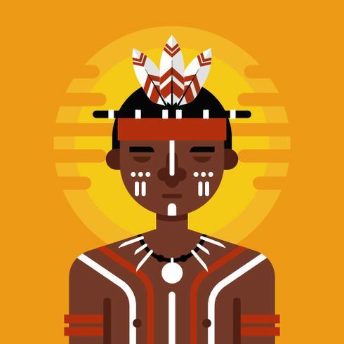 Vettore di carattere indigeno