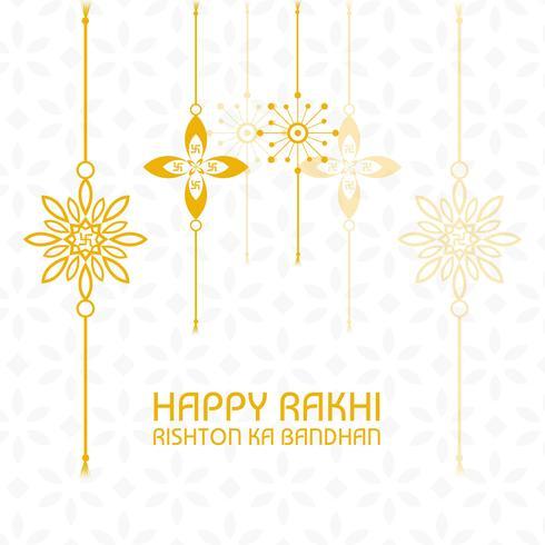Bella rakhi ambientata per il festival indiano, Raksha Bandhan celebrat vettore
