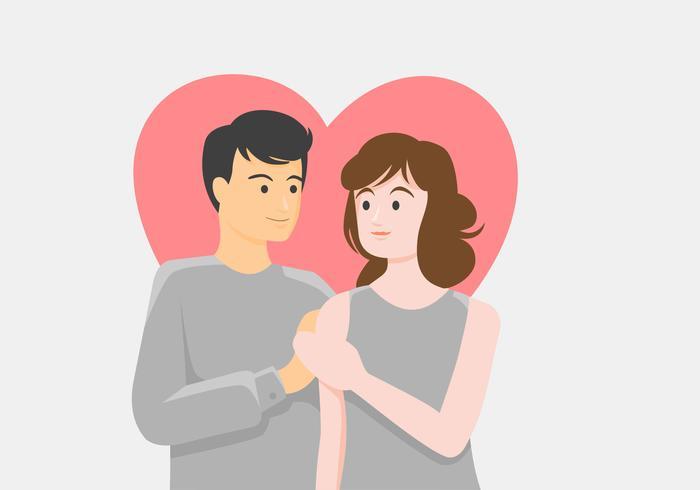 Illustrazione di vettore di proposta di fidanzamento