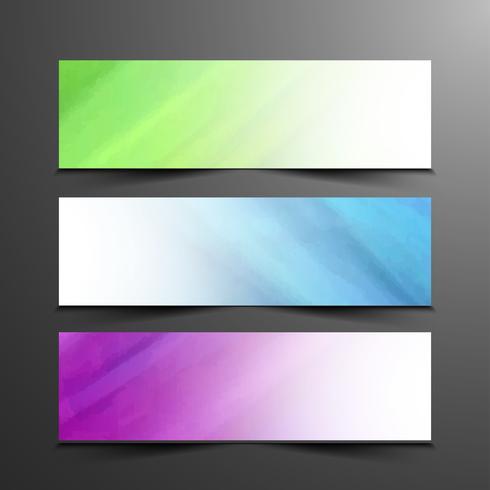 Set di bandiere moderne astratte vettore