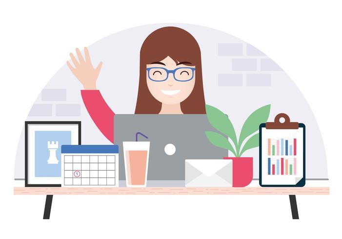 Illustrazione del desktop di Vector Designer