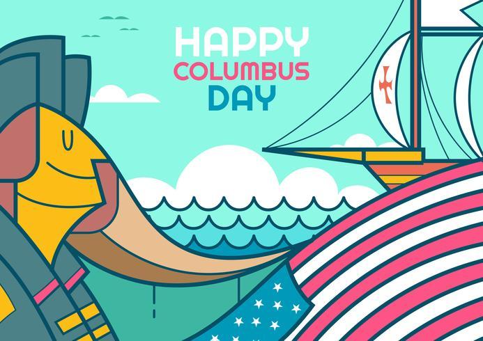 Felice giorno di Cristoforo Colombo vettore