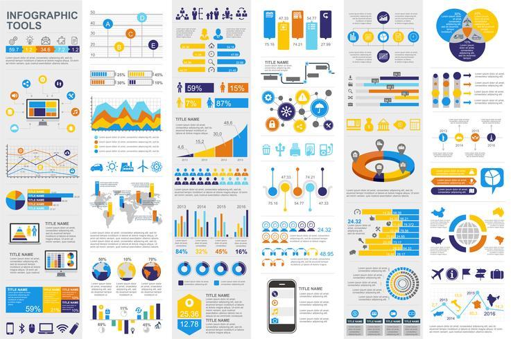 Elementi di business infografica vettore