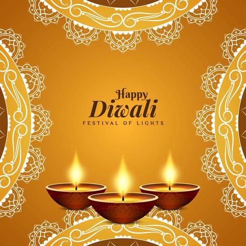 Fondo decorativo di Diwali felice alla moda astratto vettore