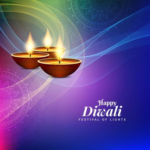 Bello fondo decorativo astratto felice di Diwali vettore