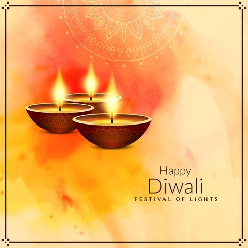 Fondo di Diwali felice religioso alla moda astratto vettore
