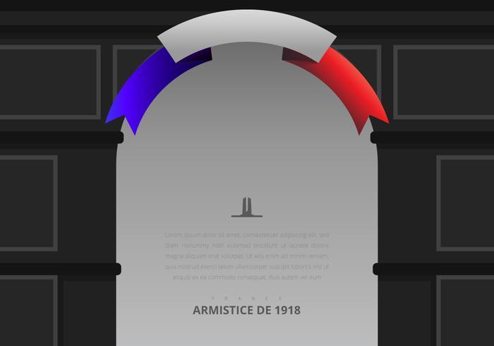 Illustrazione di giorno di armistizio francese, con la bandiera della Francia, Europa vettore