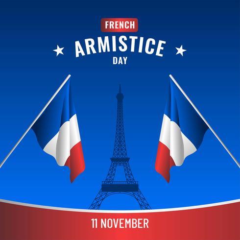 Vettore di giorno di armistizio francese
