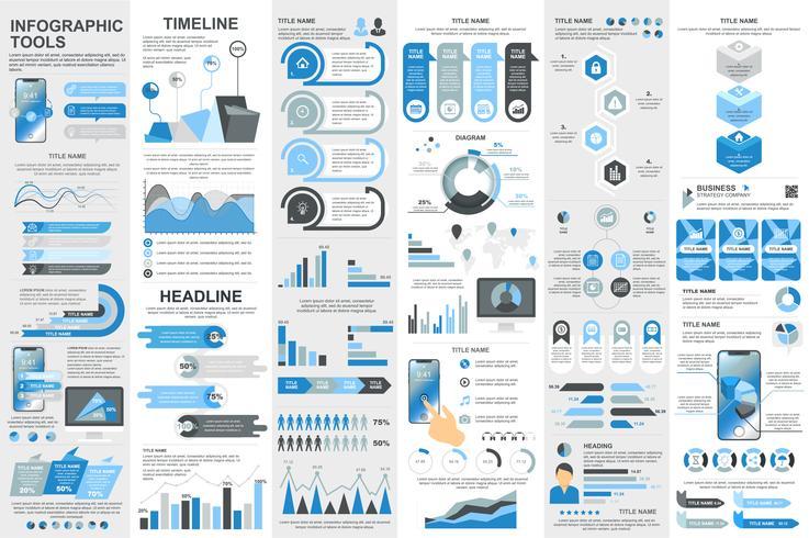 Elementi di infografica Modello di visualizzazione dei dati vettore