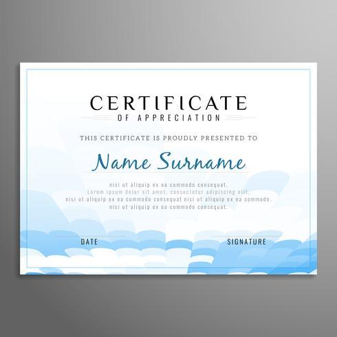 Sfondo astratto certificato vettore