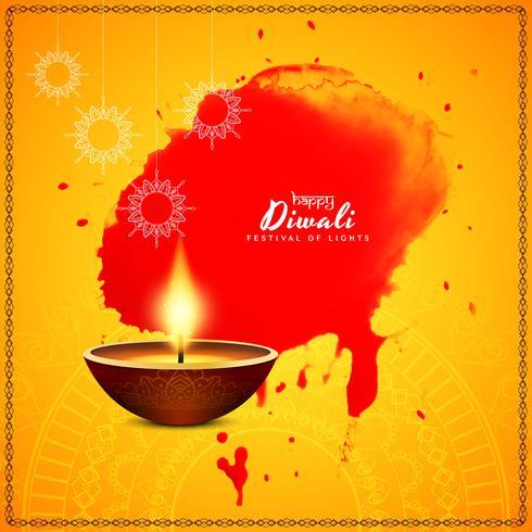 Fondo di saluto di bello festival felice astratto di Diwali vettore