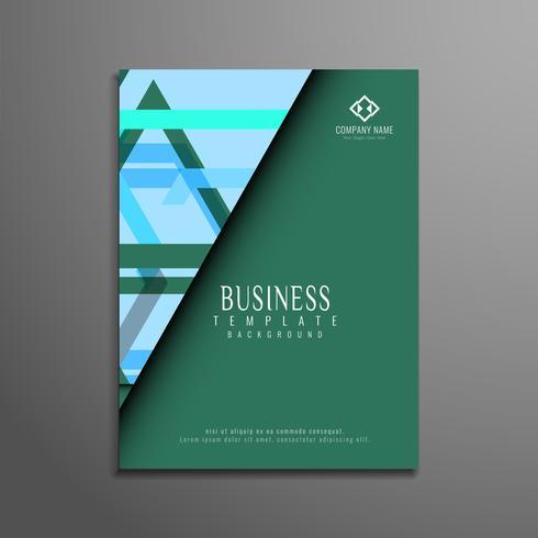Progettazione del modello astratto business flyer vettore