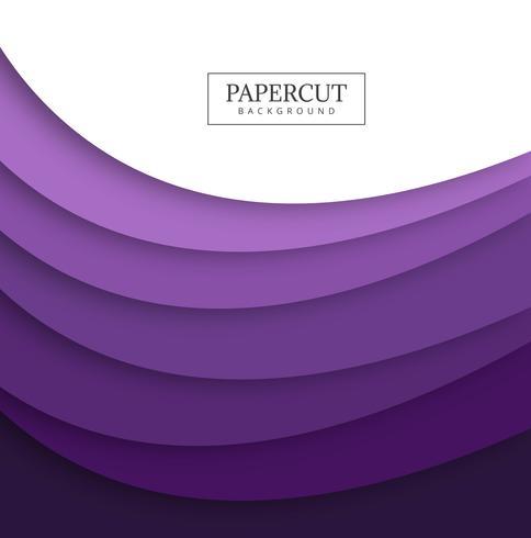 Disegno di forma d'onda colorato di papercut astratto vettore