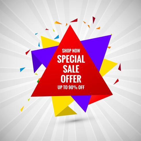 Design creativo di vendita speciale offerta banner vendita vettore