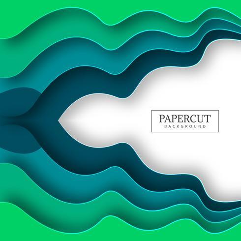 Illustrazione variopinta astratta della priorità bassa del papercut dell'onda vettore