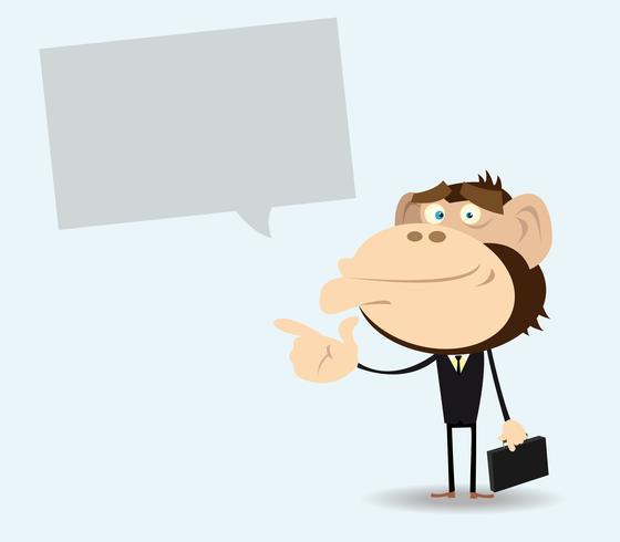 Gorilla Uomo d'affari con messaggio vettore