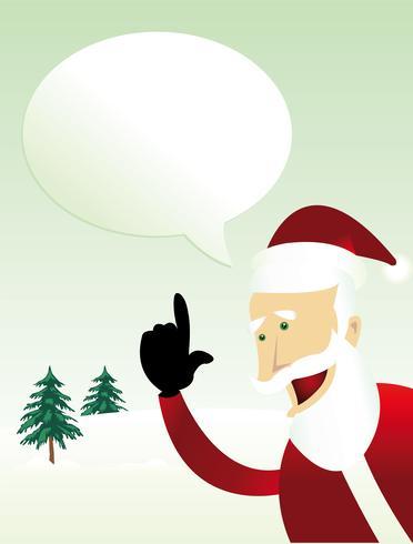 Messaggio di Babbo Natale vettore