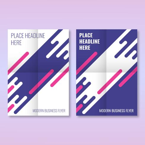 Modello di Layout moderno di Brochure Business Flyer Cover Business vettore