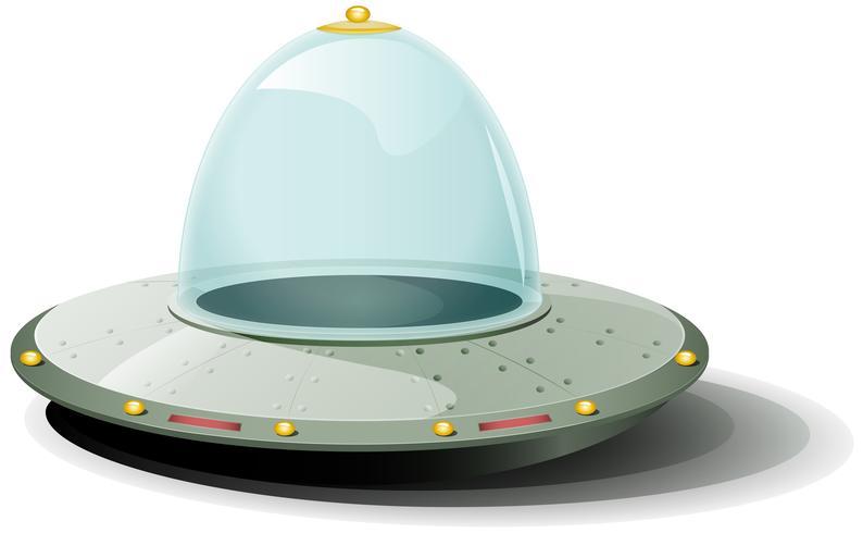 astronave retrò dei cartoni animati vettore
