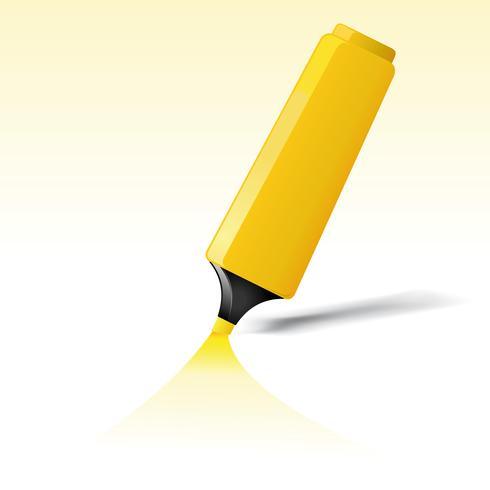 Pennarello giallo vettore