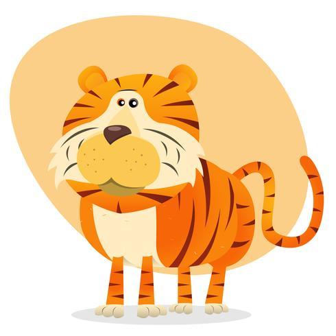 Tigre dei cartoni animati vettore