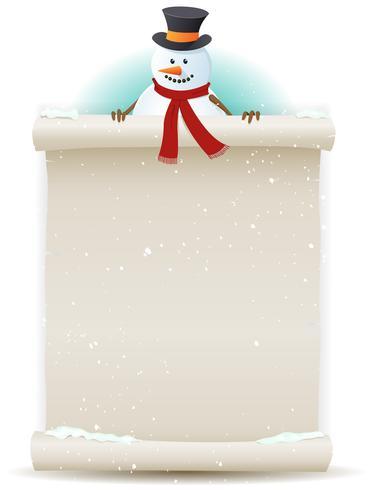 Sfondo di Babbo Natale pupazzo di neve vettore