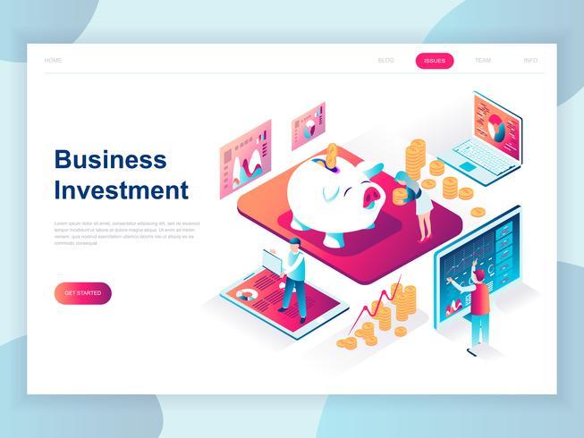 Banner web di investimento aziendale isometrica vettore