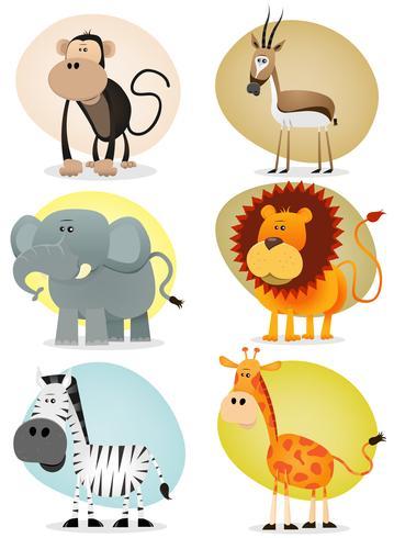 Collezione di animali della giungla africana vettore