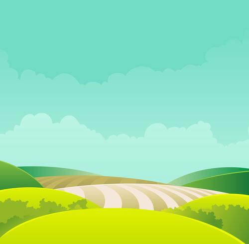 Paesaggio rurale vettore