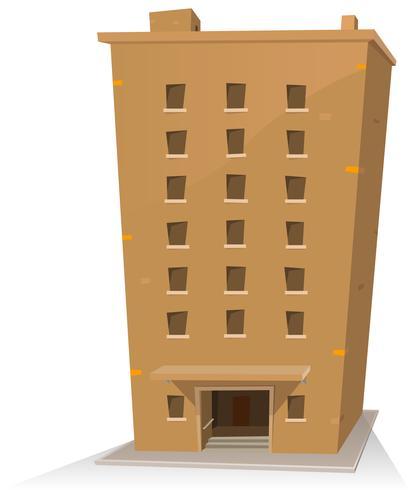Edificio dei cartoni animati vettore
