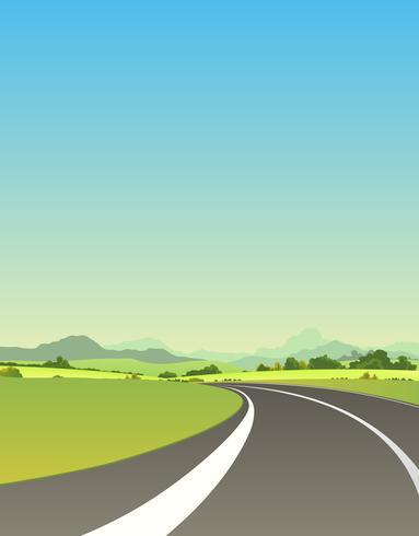 Sulla strada per l'estate vettore