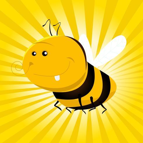 cartone animato ape divertente vettore