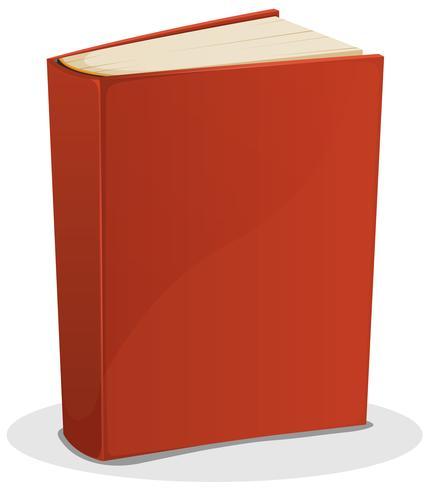 Libro rosso isolato su bianco vettore