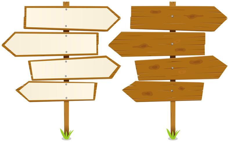 Frecce in legno vettore