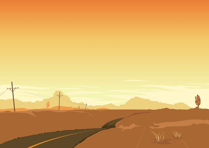 Priorità bassa del manifesto di paesaggio del deserto vettore