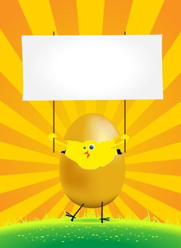 Pollo di Pasqua piccolo vettore