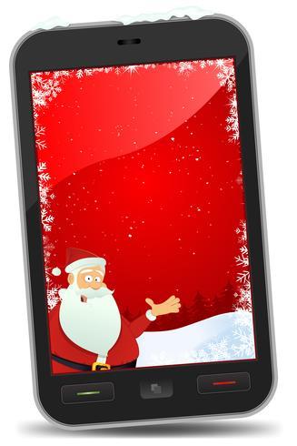 Sfondi per smartphone di Natale vettore