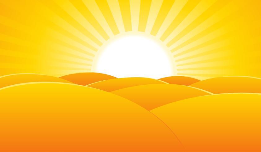Priorità bassa del manifesto del paesaggio di estate del deserto vettore