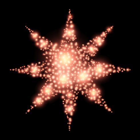 Decorazione di natale dell'estratto della stella a quattro punte sul nero vettore
