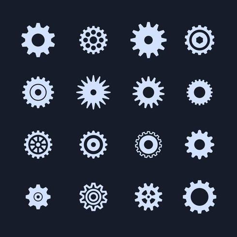 Icona delle impostazioni dei simboli di ingranaggi vettore