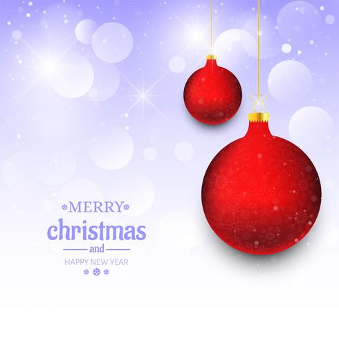 Bello fondo della carta di festival della palla di Buon Natale vettore
