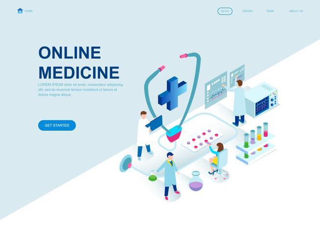 Concetto isometrico moderno design piatto di medicina vettore
