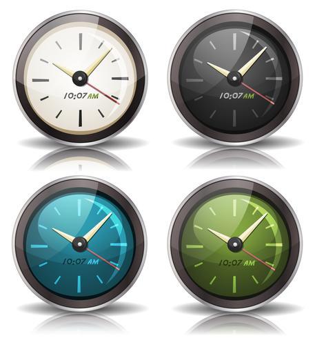 Set di icone di orologi vettore