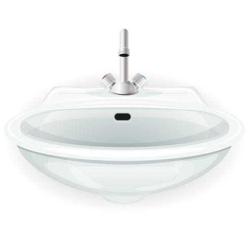 Lavandino del bagno con rubinetto vettore