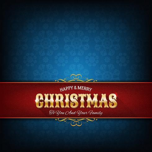 Biglietto di auguri di Natale vettore