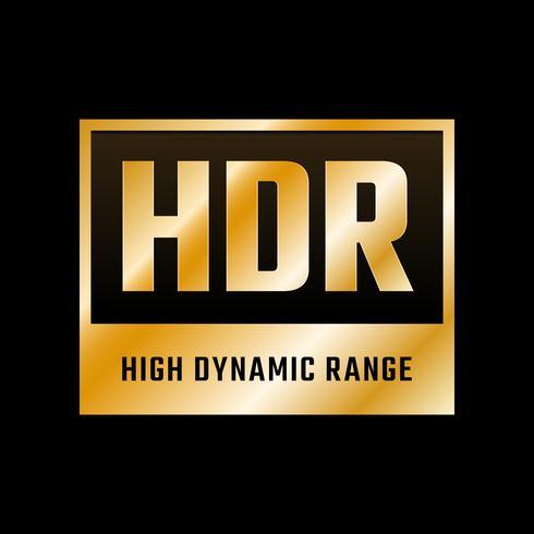 Simbolo di alta gamma dinamica vettore
