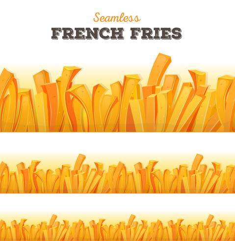 Sfondo di patatine fritte senza soluzione di continuità vettore